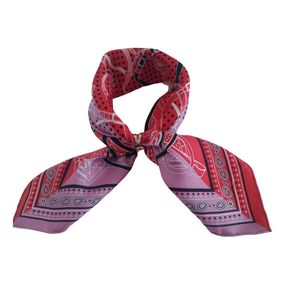 Hermès N Red Silk Silk handkerchief for Women N