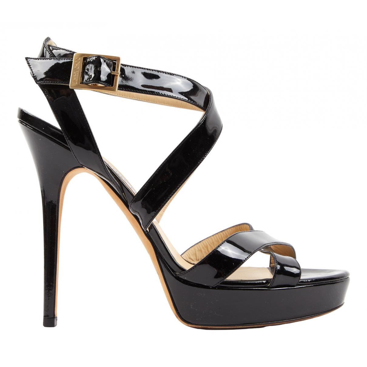 Jimmy Choo N Black Patent leather Sandals for Women 40 EU