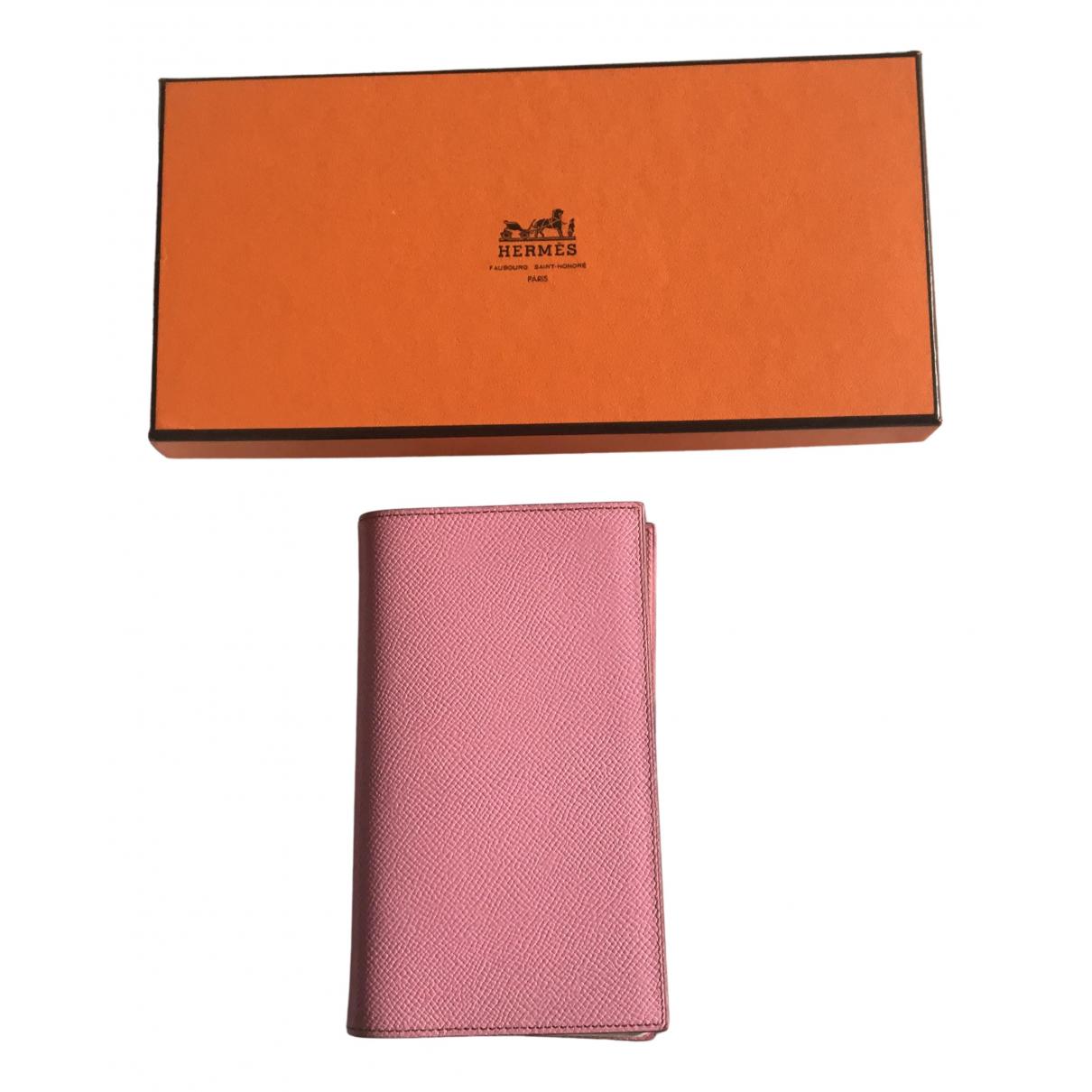 Hermes - Objets & Deco Couverture dagenda GM pour lifestyle en cuir - rose
