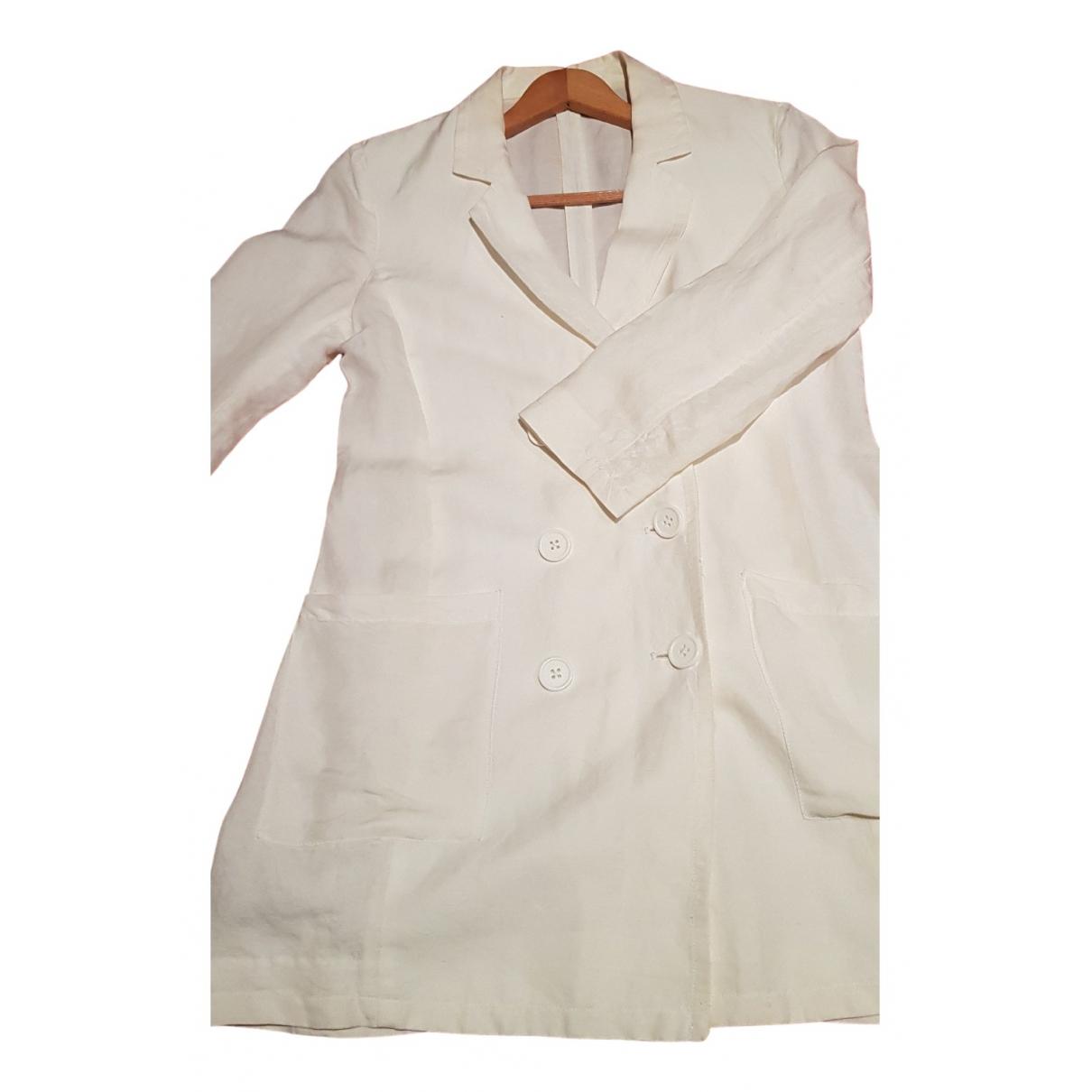 Emporio Armani - Veste   pour femme en lin - blanc