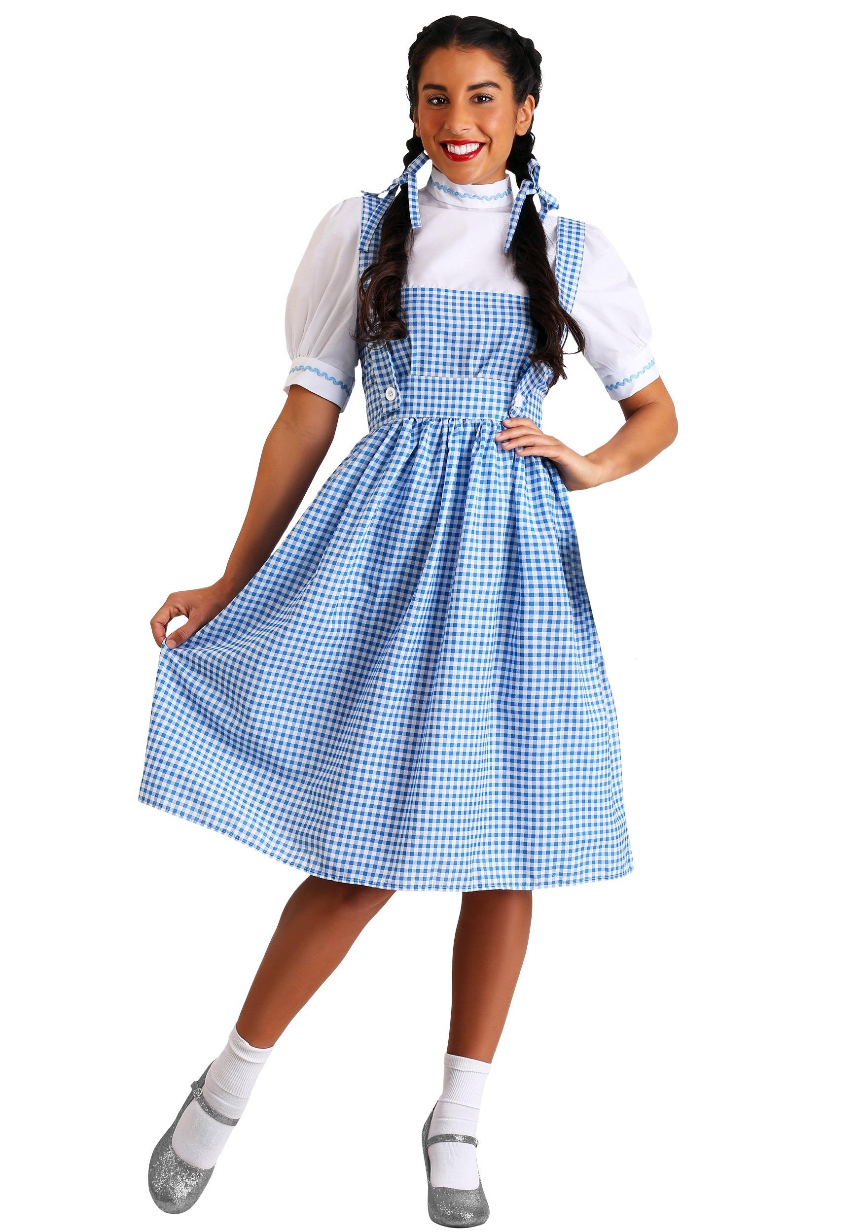 Womens Kansas Girl Long Dress Costume