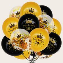 15 Stuecke Geburtstagsdekoration Ballon Set