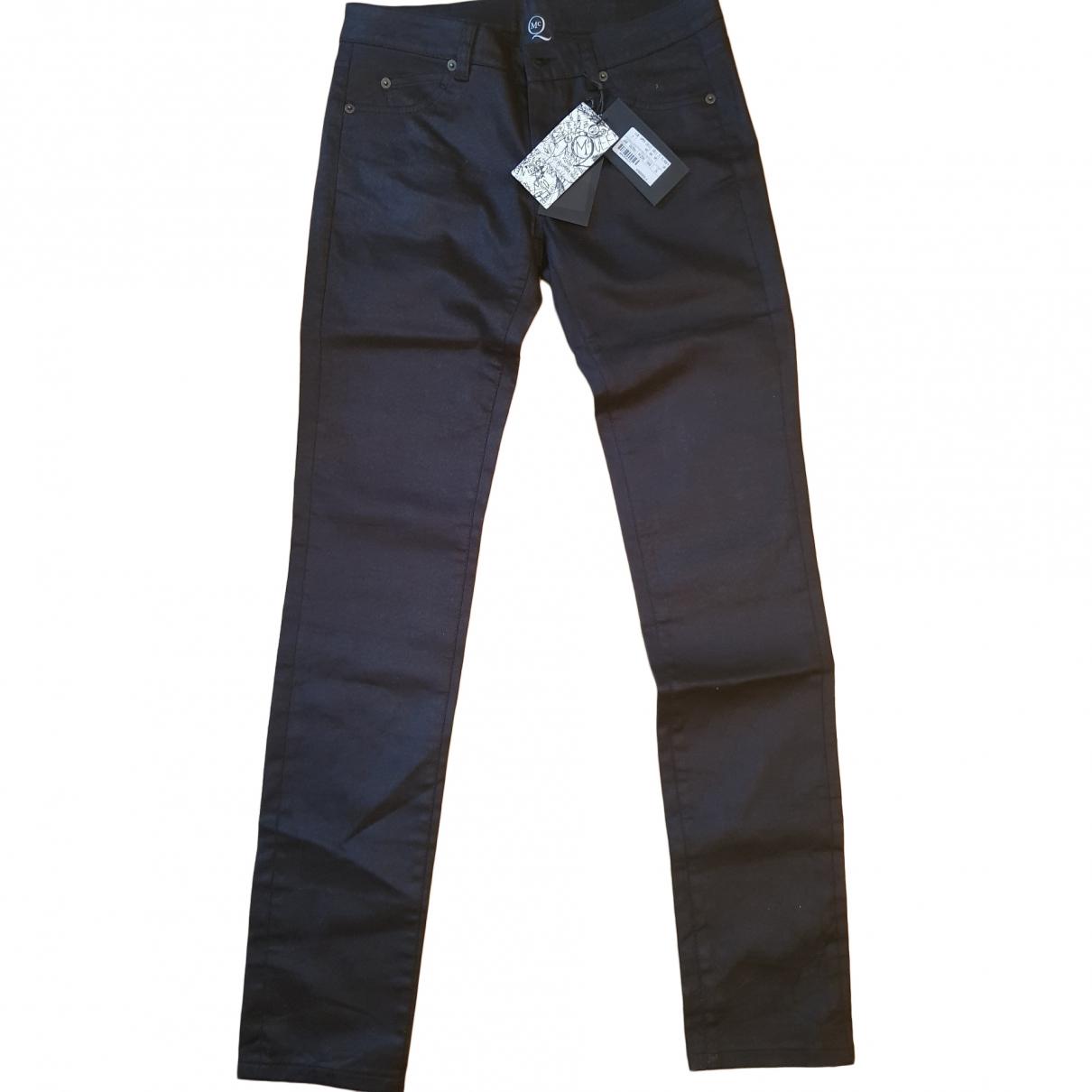 Mcq \N Black Cotton Trousers for Women 36 FR
