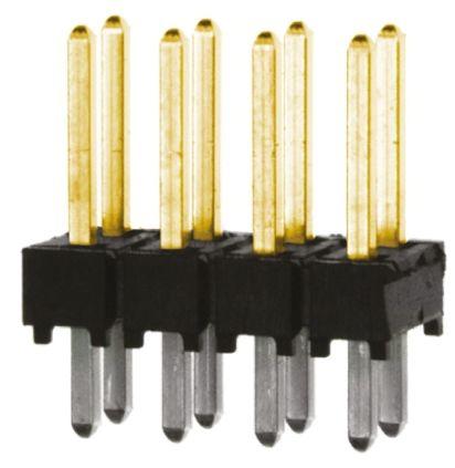 Samtec , TSW, 8 Way, 2 Row, Straight Pin Header
