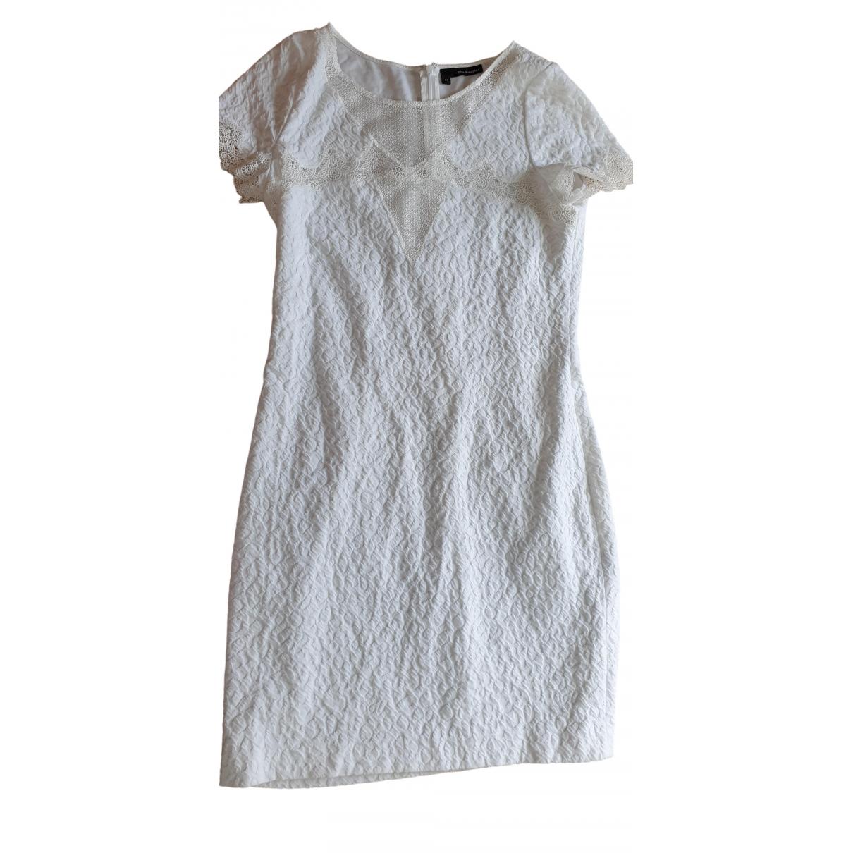 The Kooples \N White Cotton - elasthane dress for Women M International