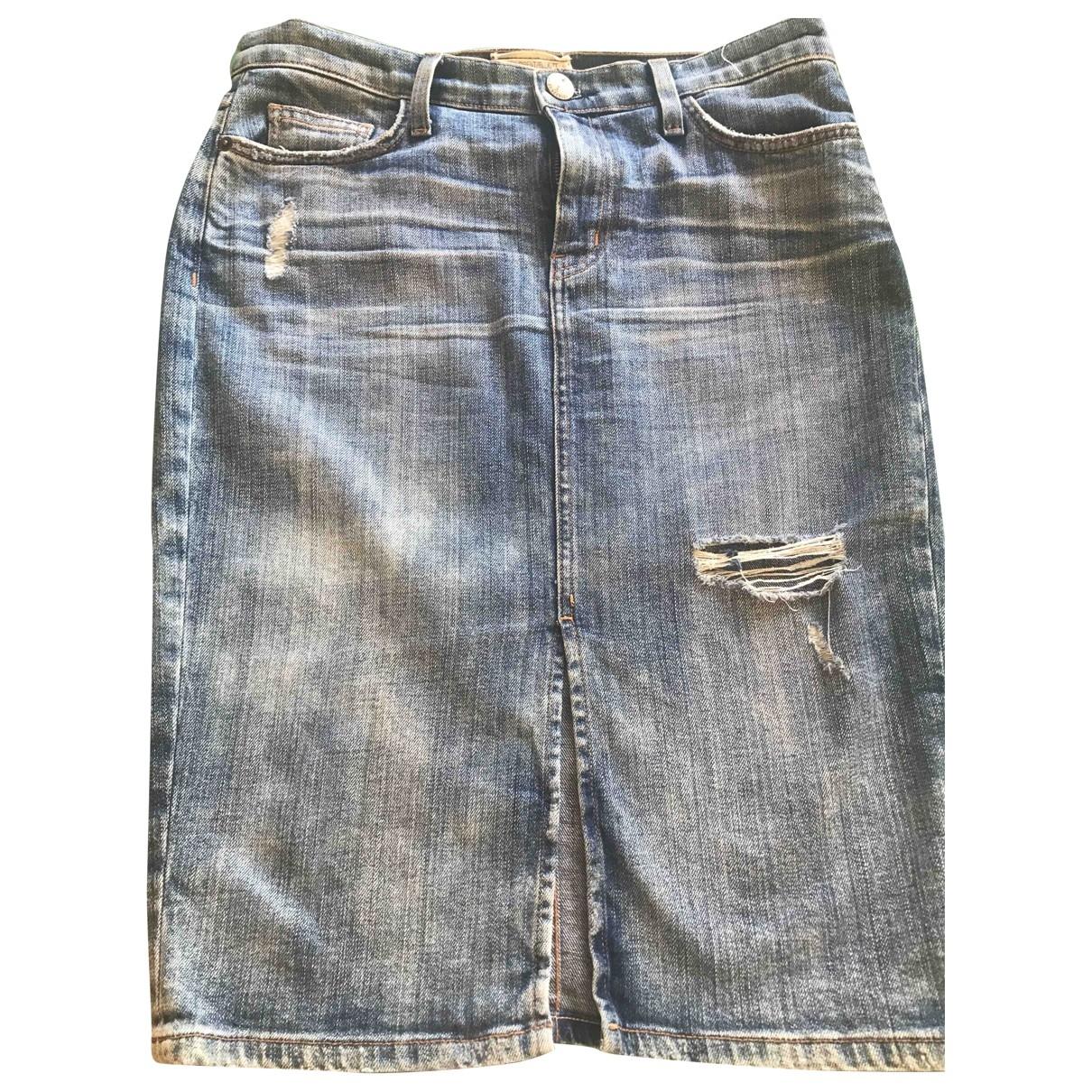 Current Elliott \N Blue Cotton skirt for Women 32 FR
