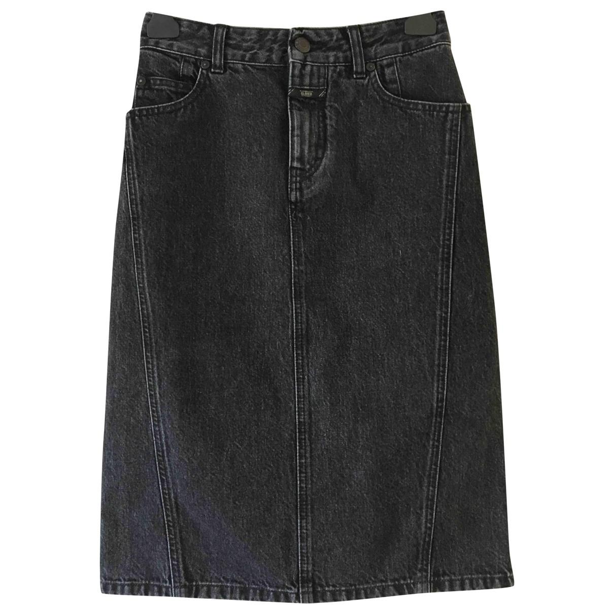 Closed \N Rocke in  Schwarz Denim - Jeans