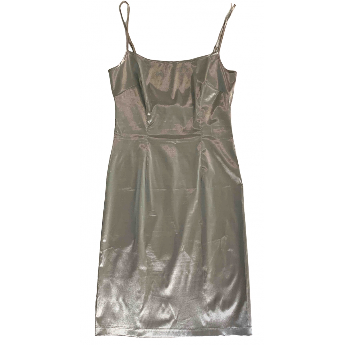 Moschino Cheap And Chic \N Kleid in  Silber Polyester