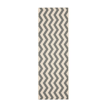 Safavieh Courtyard Collection Kalisha Geometric Indoor/Outdoor Runner Rug, One Size , Multiple Colors