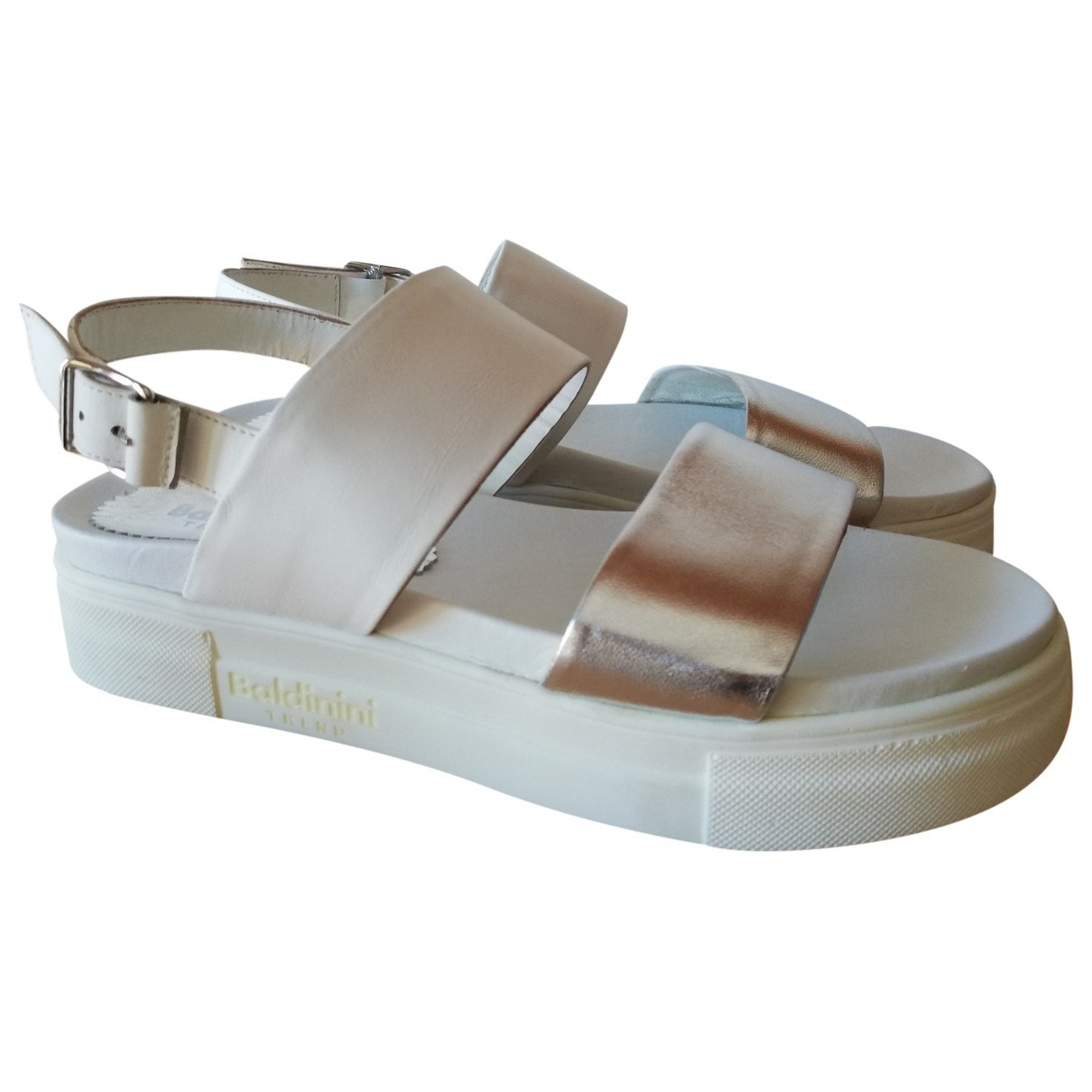Baldinini \N Sandalen in  Beige Leder