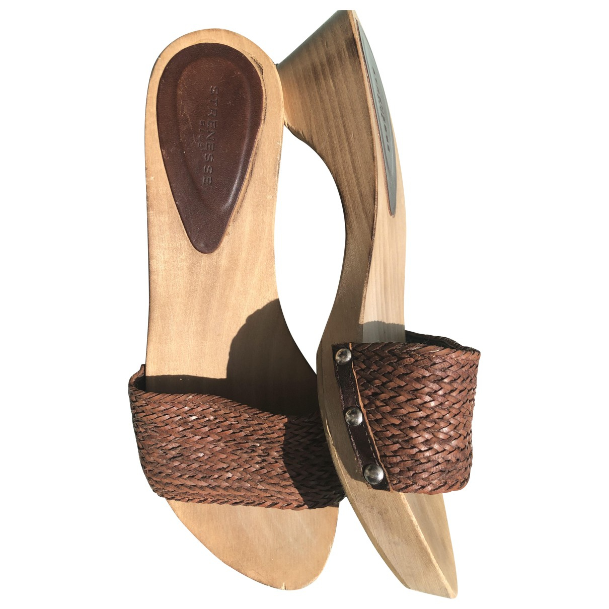 Strenesse \N Brown Leather Sandals for Women 37 EU