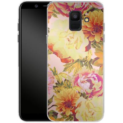 Samsung Galaxy A6 Silikon Handyhuelle - Tropicana Bouquet von Zala Farah