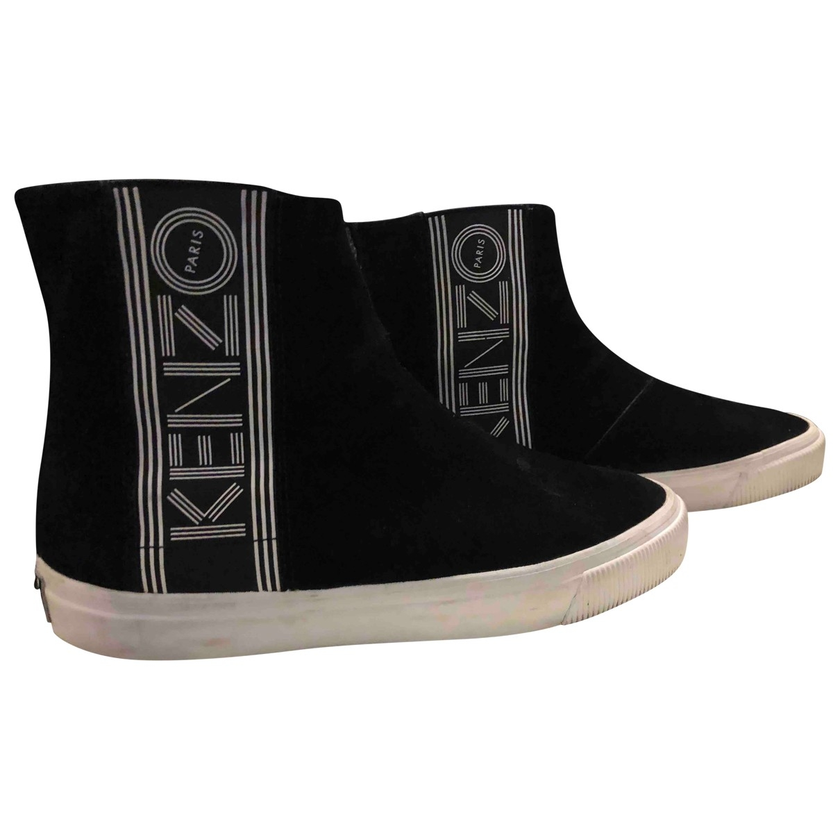 Kenzo - Baskets   pour homme en suede - noir
