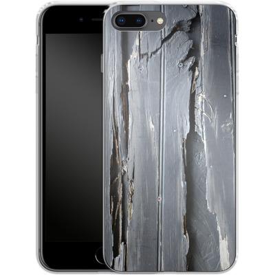 Apple iPhone 7 Plus Silikon Handyhuelle - Wood Black Fence von Brent Williams