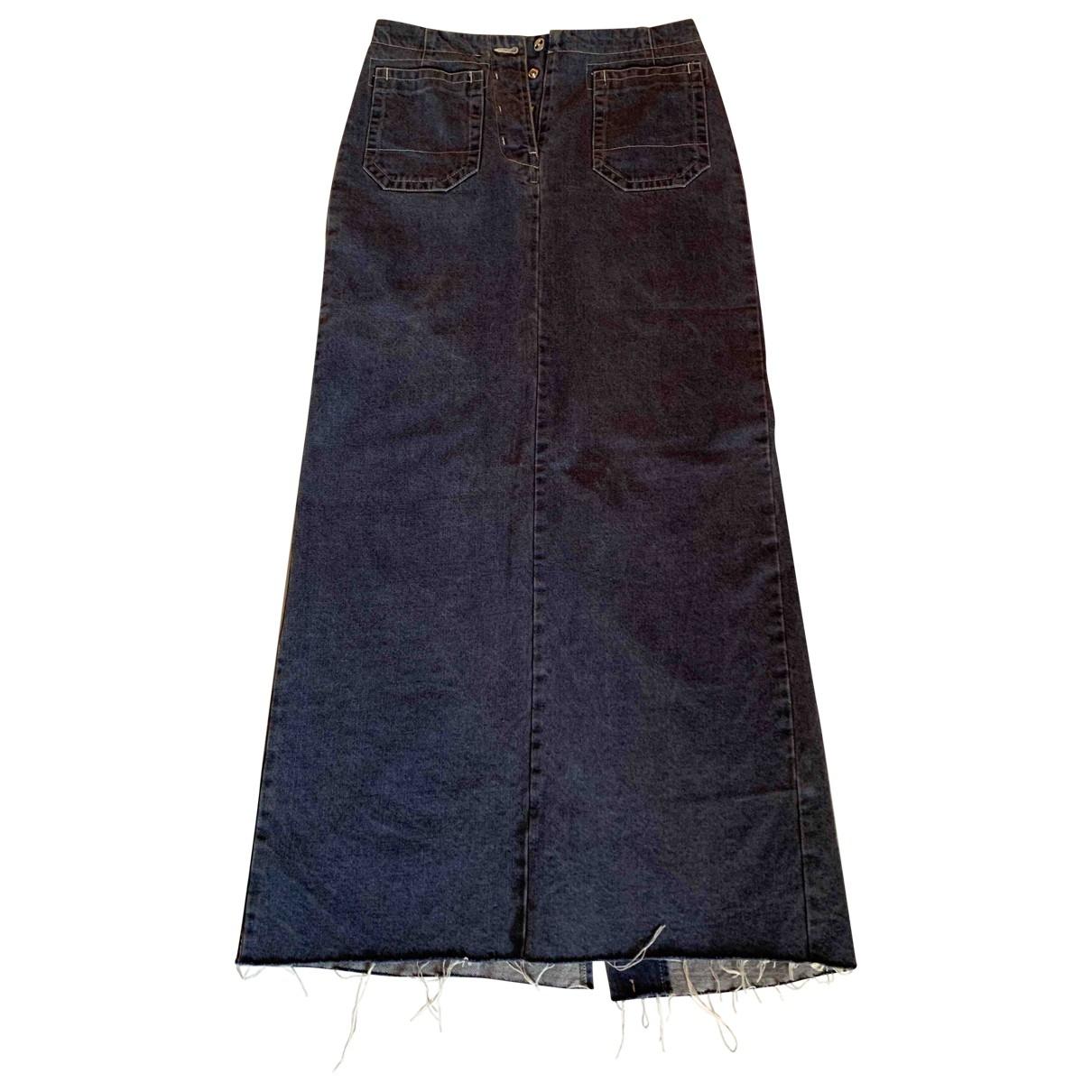 Mm6 - Jupe   pour femme en coton - bleu