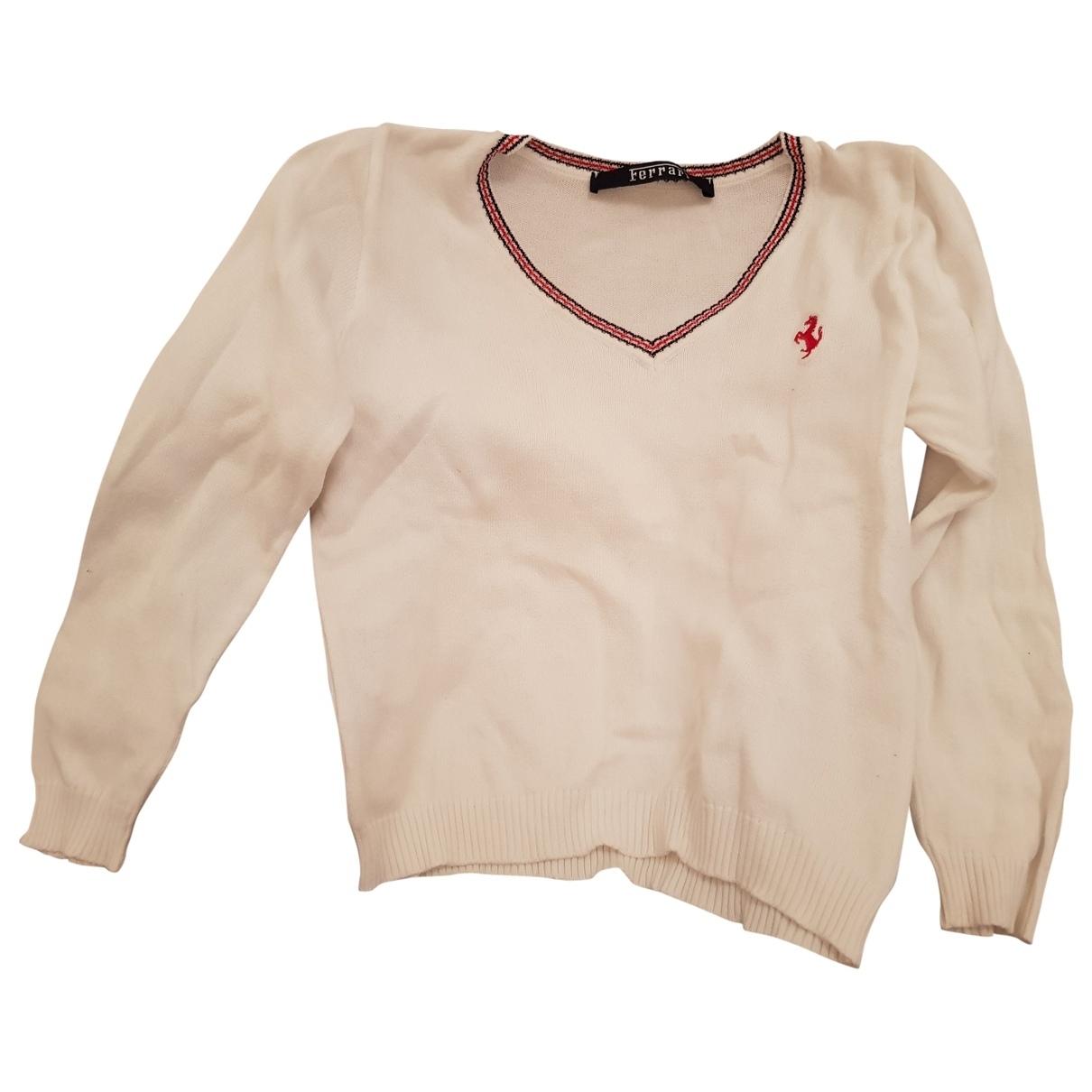 Franco Ferrari - Pull   pour enfant en coton - blanc
