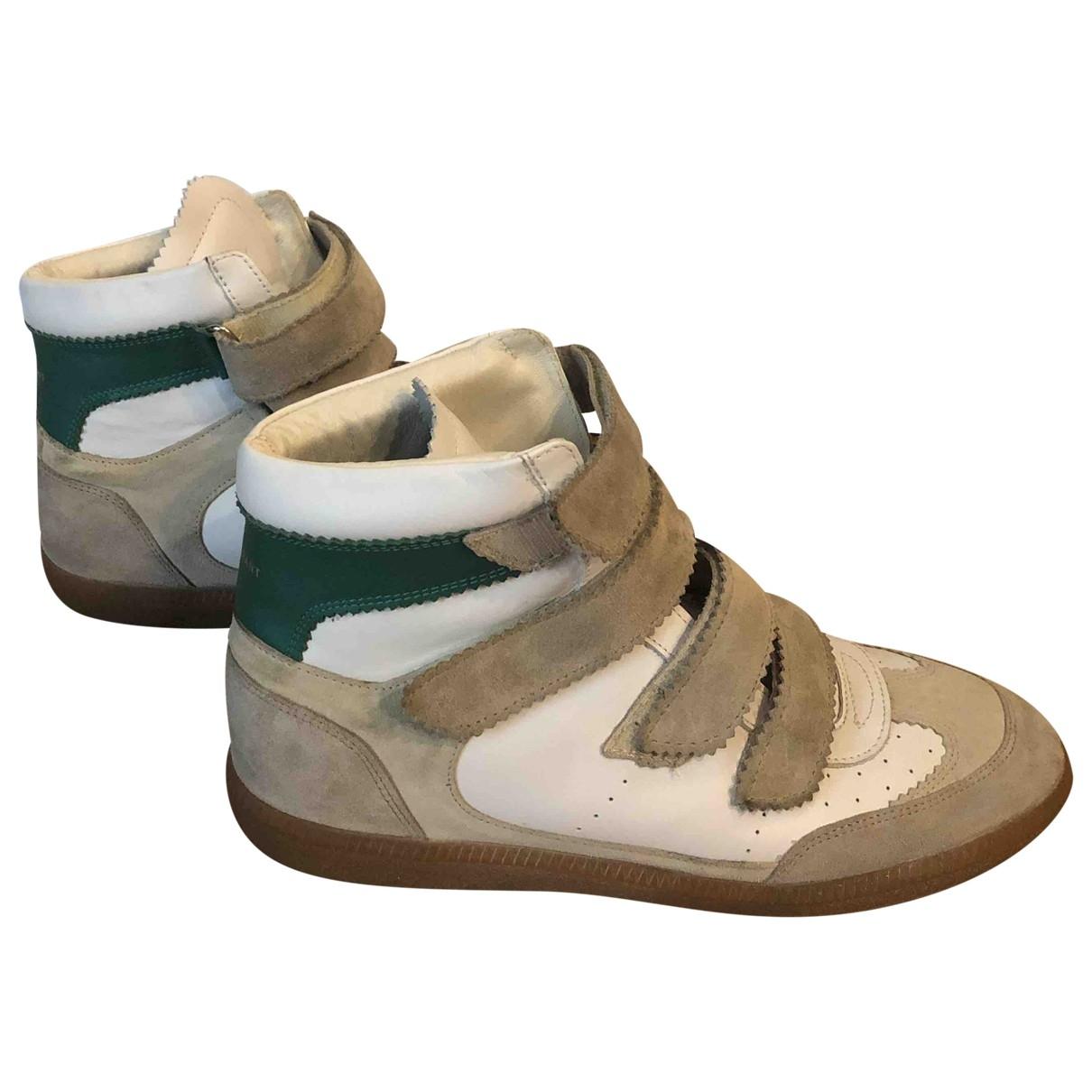Isabel Marant Etoile - Boots   pour femme en cuir - blanc