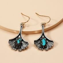 Turquoise Inlaid Drop Earrings