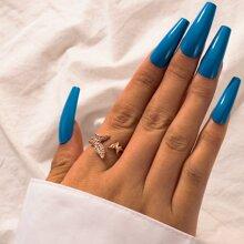 Anillo con mariposa con diamante de imitacion
