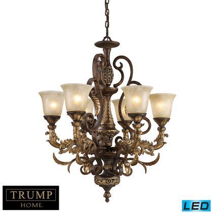 2163/6-LED 6 Light Chandelier in Burnt Bronze -