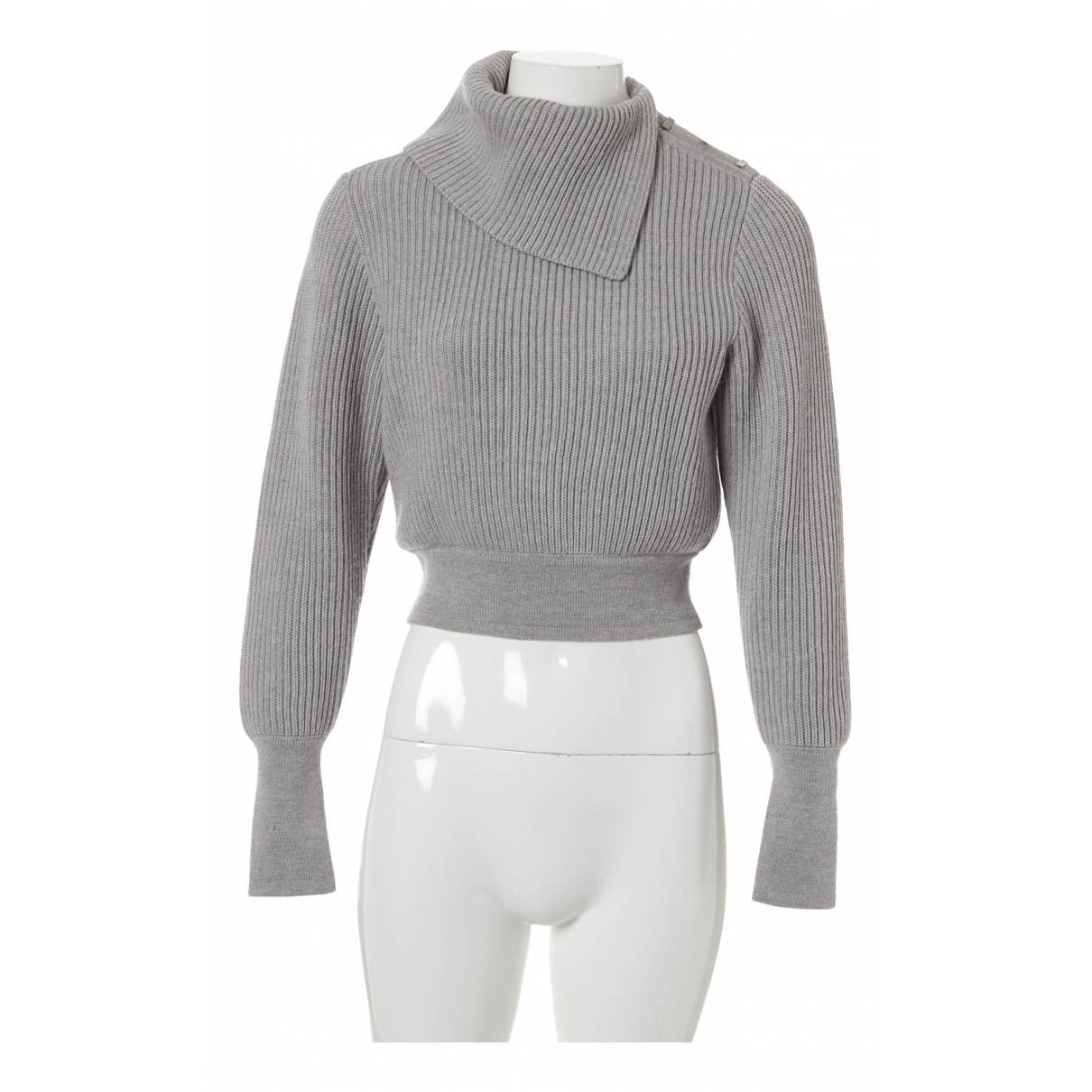 Alaia \N Pullover in  Grau Wolle