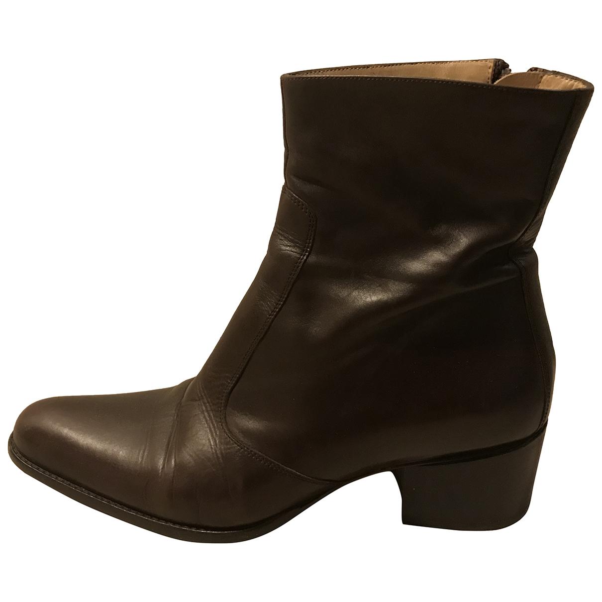 Free Lance - Boots Queenie pour femme en cuir - marron