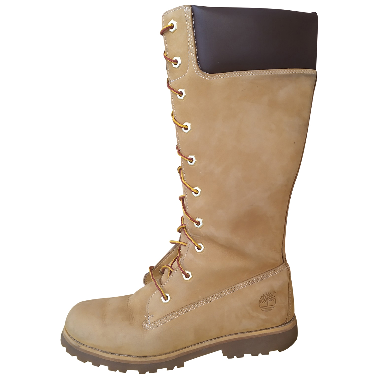 Timberland \N Camel Rubber Boots for Women 37.5 EU