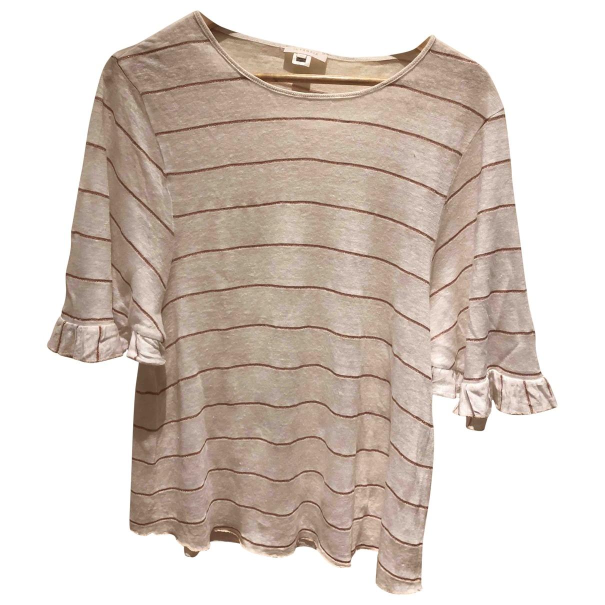 Hoss Intropia - Top   pour femme en coton - blanc