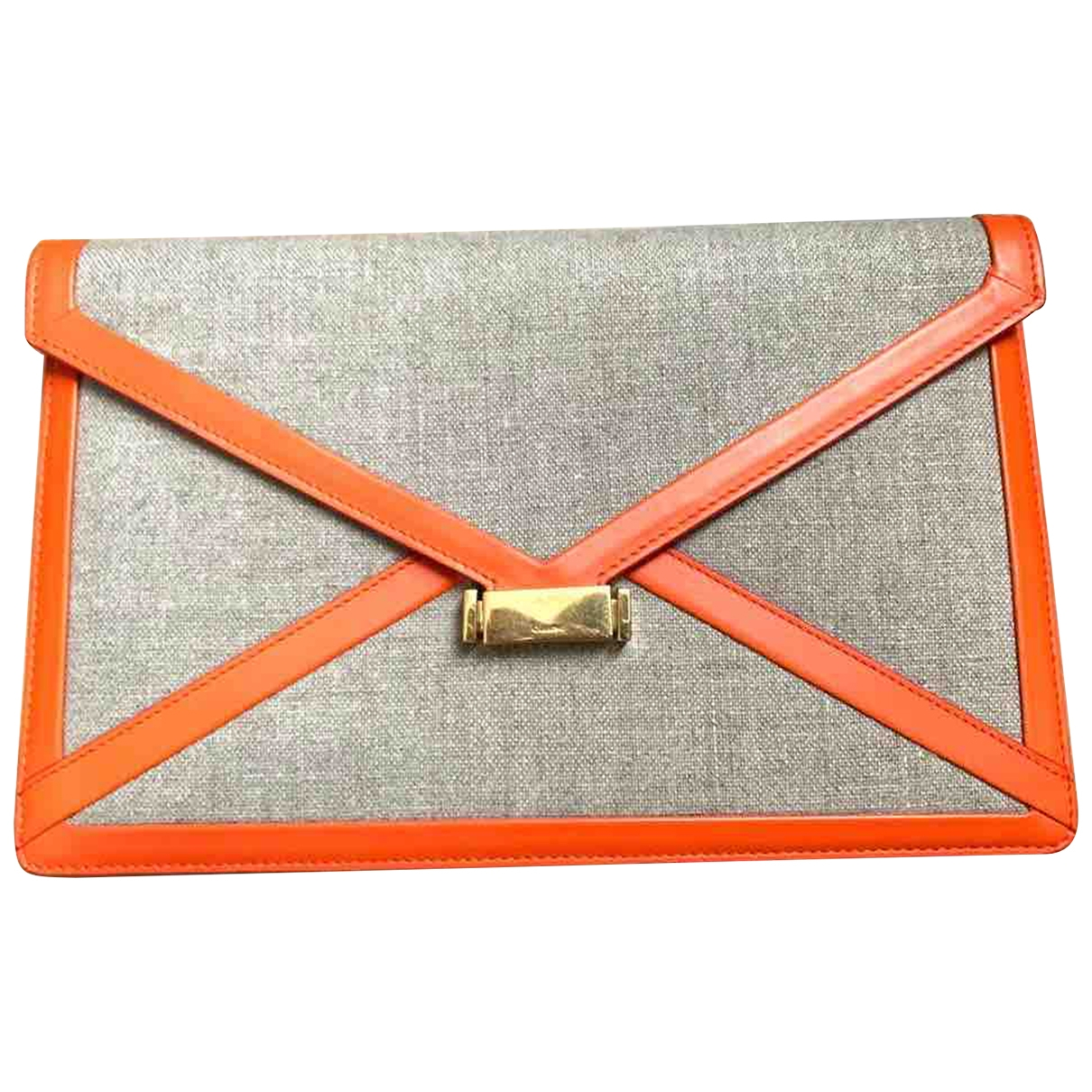Celine Diamond Clutch Beige Cloth Clutch bag for Women \N