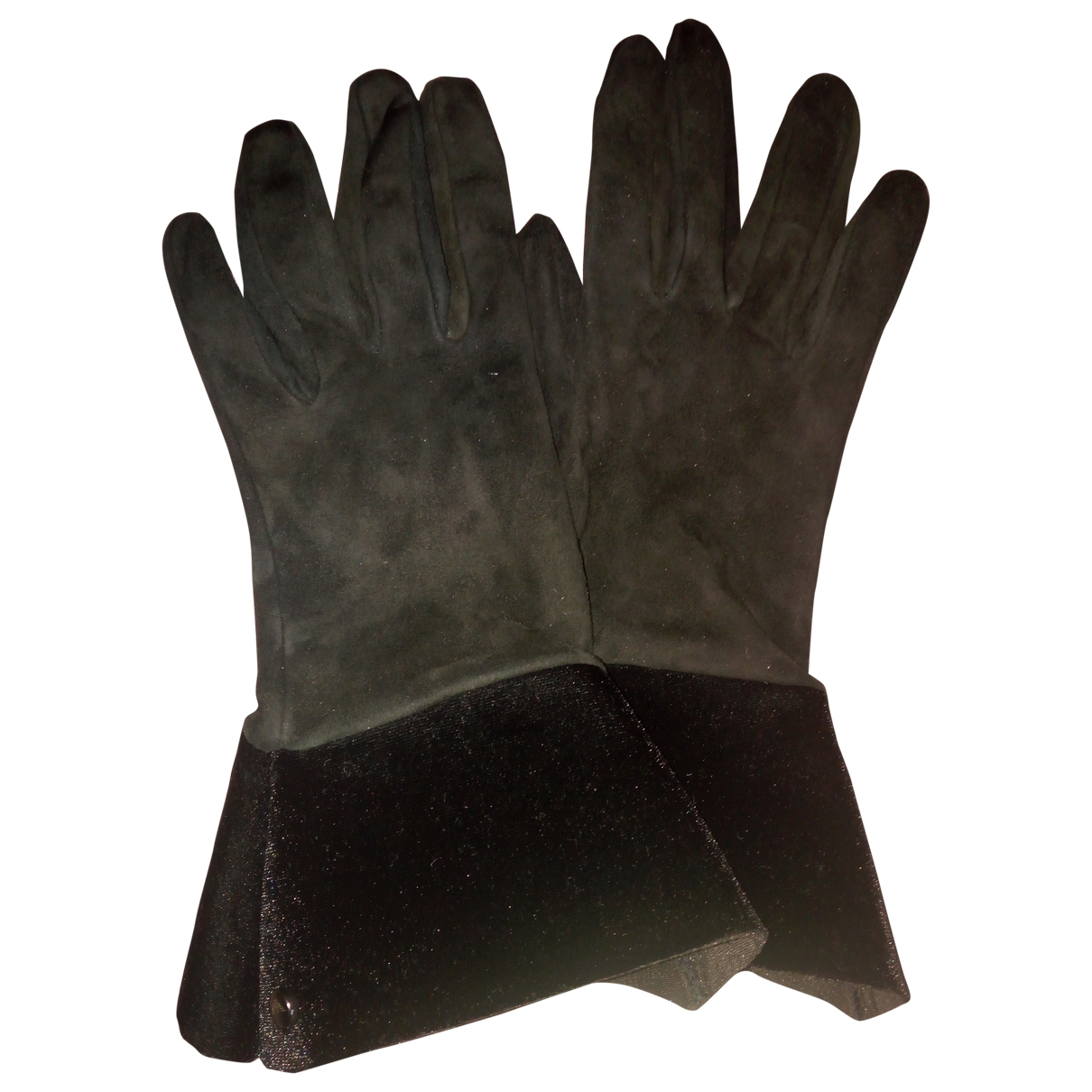 Emporio Armani \N Black Suede Gloves for Women M International