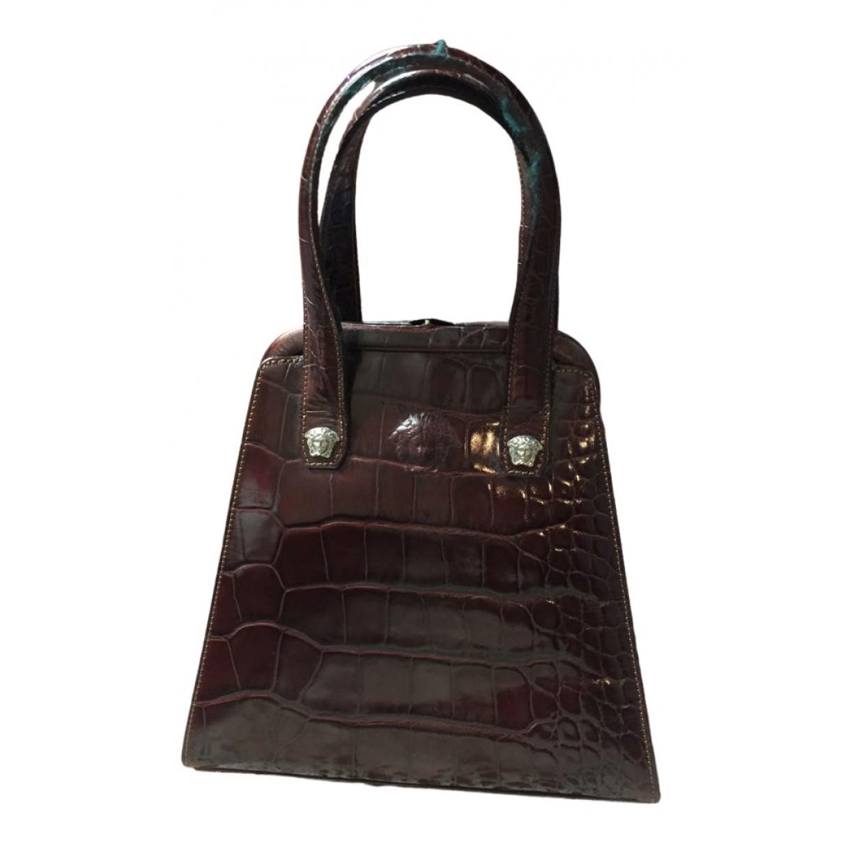Versace \N Brown Leather handbag for Women \N