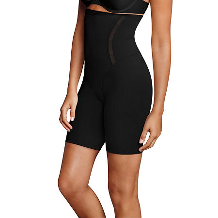 Maidenform Firm Foundations Hi-Waist Firm Control Thigh Slimmers - 5001j, Xx-large , Black