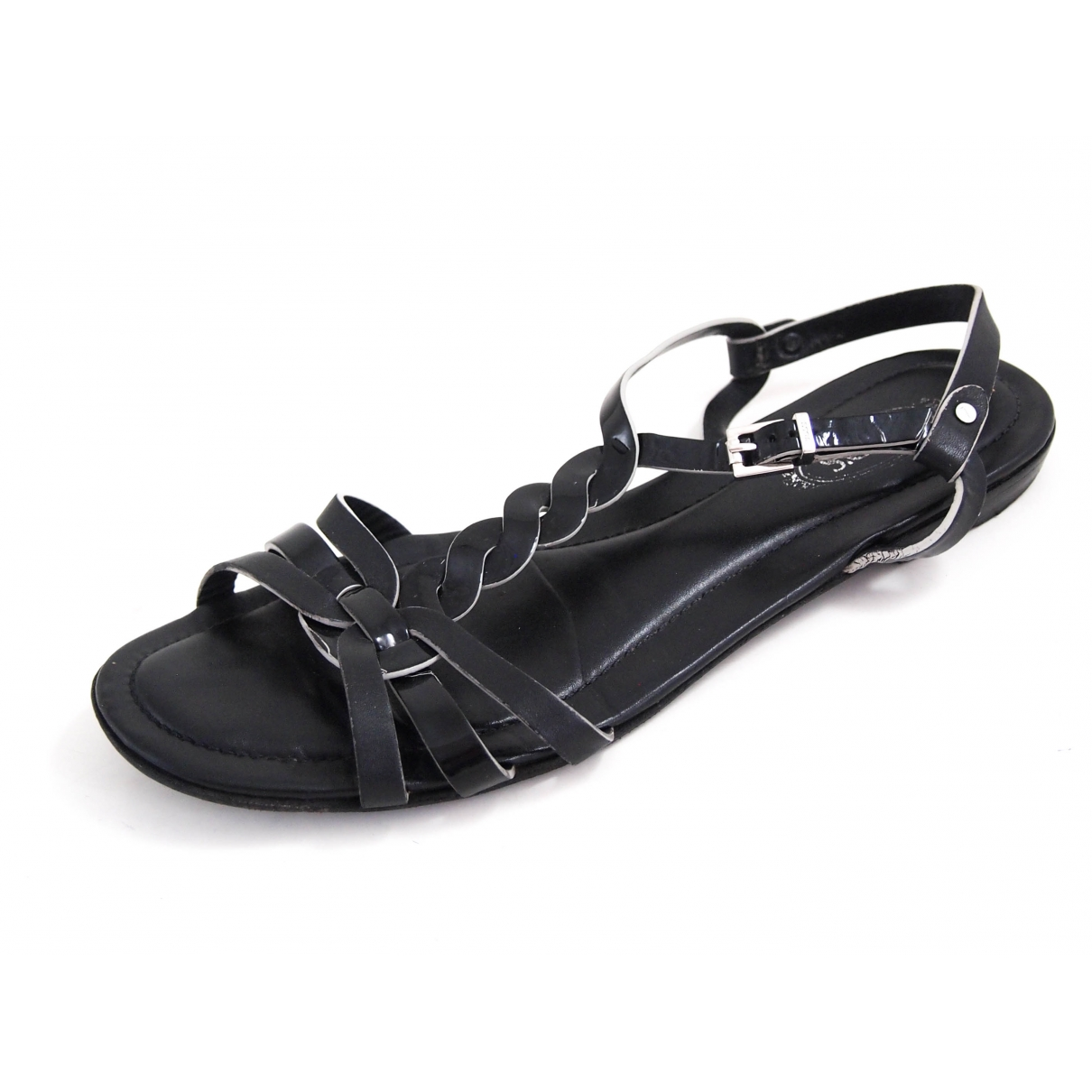 Tod's \N Black Leather Sandals for Women 37.5 EU