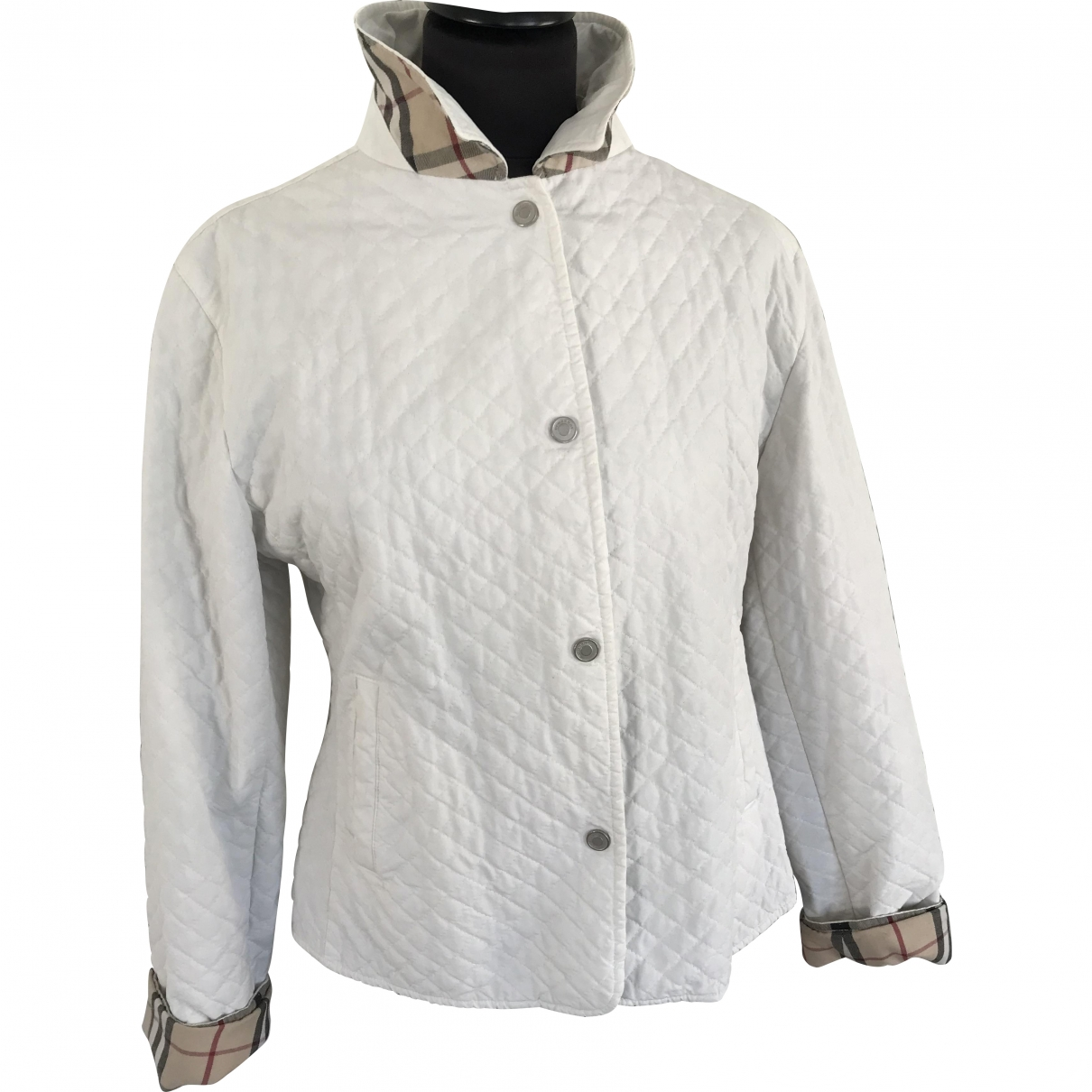 Burberry \N White Cotton jacket for Women 44 IT
