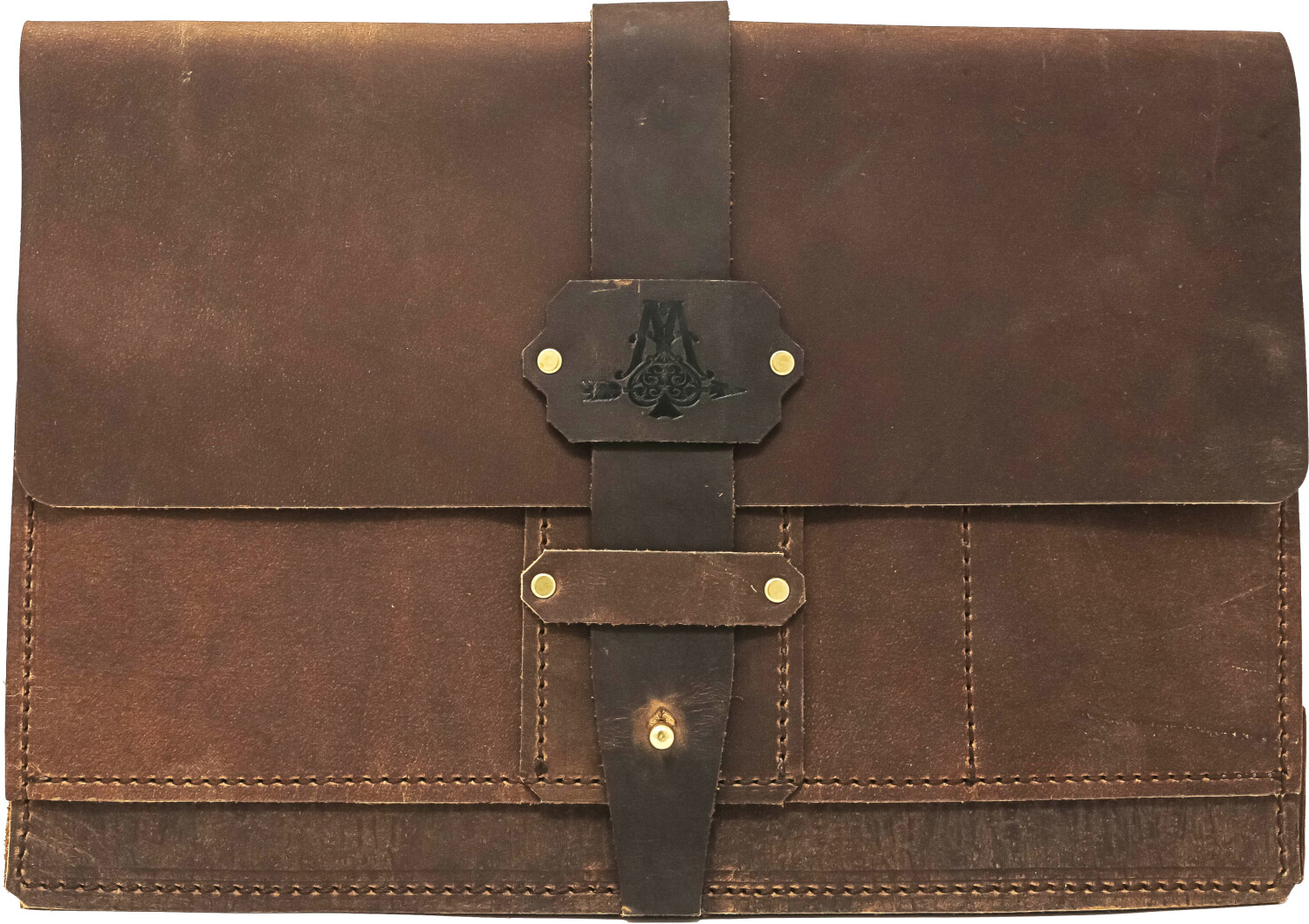 Large Portfolio--Sequoia Series Genuine Leather, Travel, Art, and Important Documents - Brown