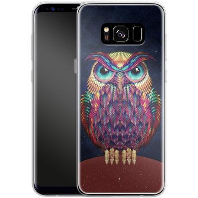 Samsung Galaxy S8 Silikon Handyhuelle - Owl von Ali Gulec