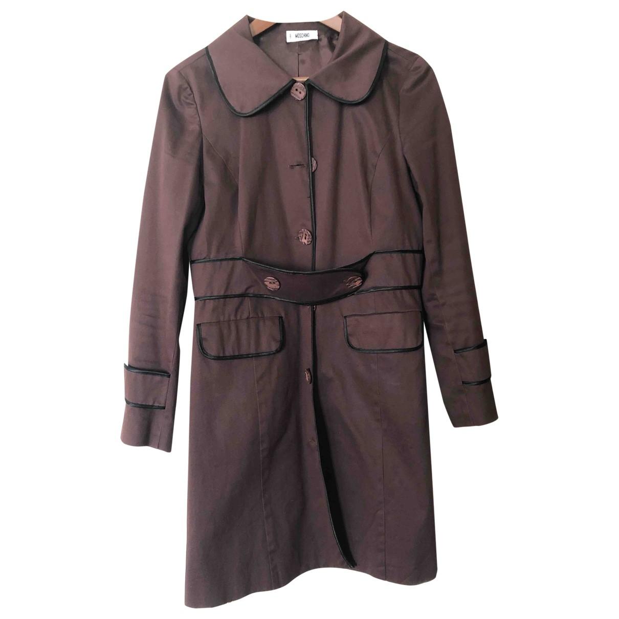 Moschino \N Brown Cotton coat for Women L International