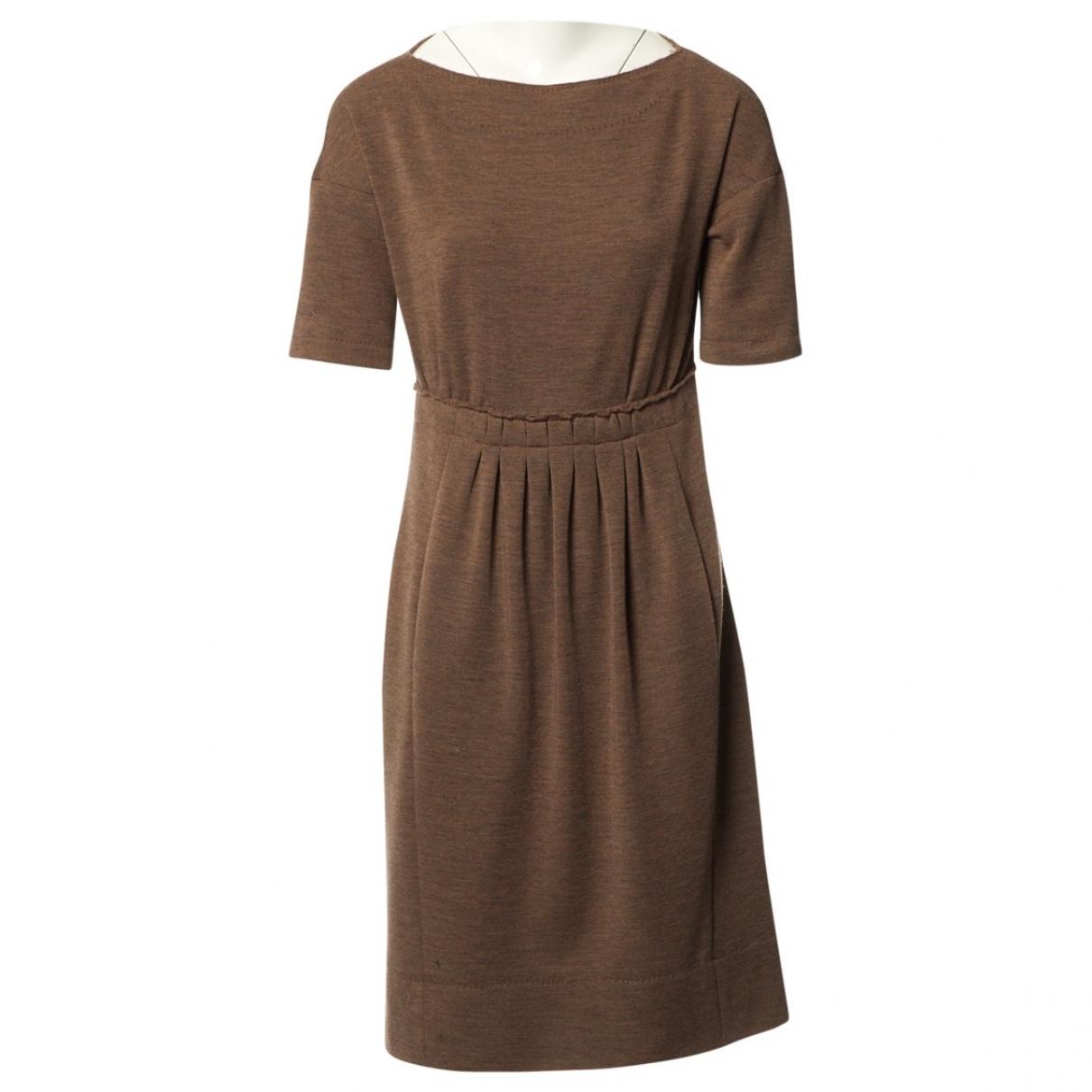 Louis Vuitton \N Kleid in  Braun Seide