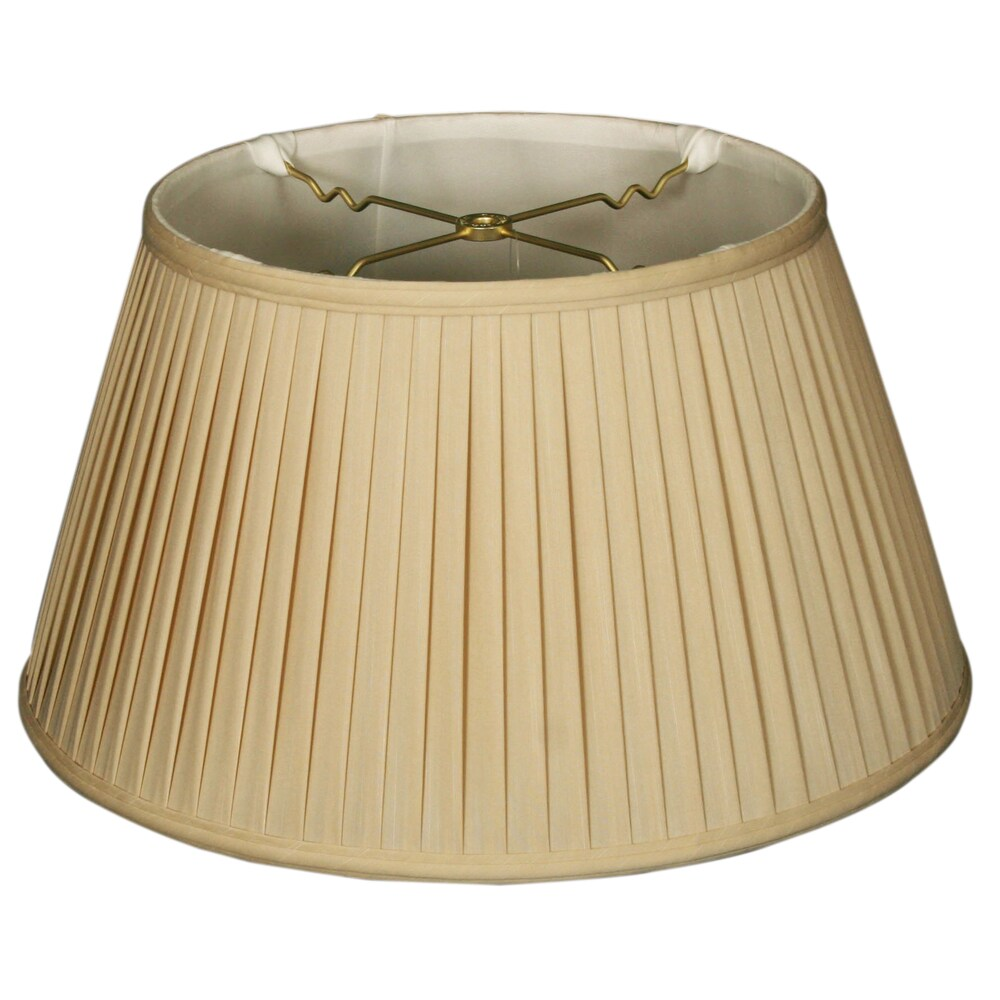 Royal Designs 6-Way / Side Pleat Basic Lamp Shade, Beige, 11.5 x 17 x 9.5 (Color)