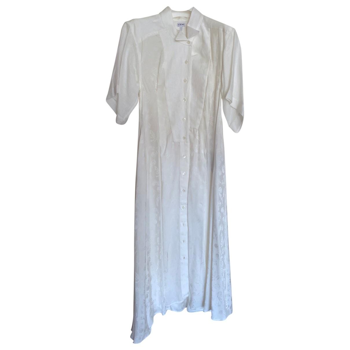 Loewe \N Kleid in  Weiss Viskose