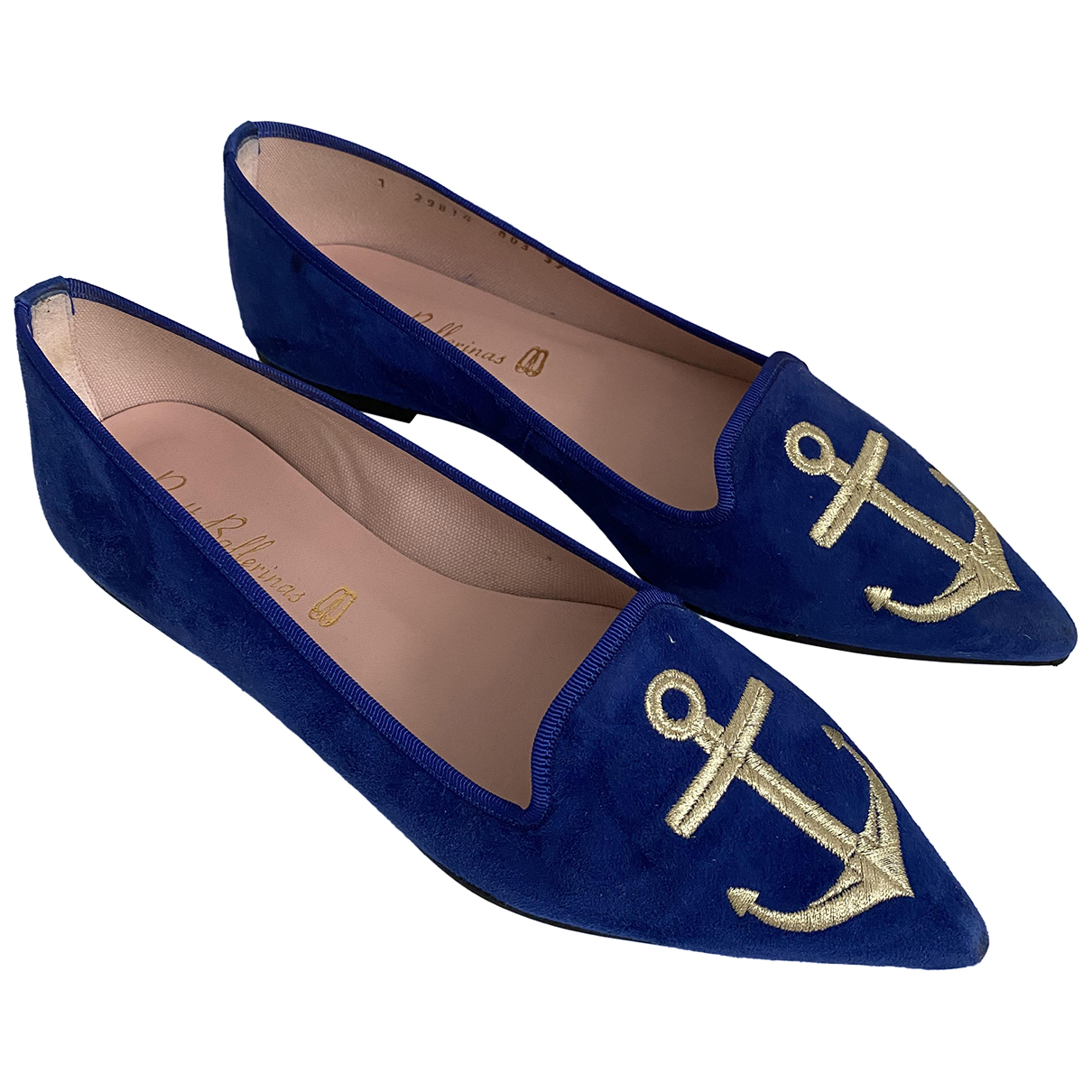 Pretty Ballerinas - Mocassins   pour femme en suede - bleu