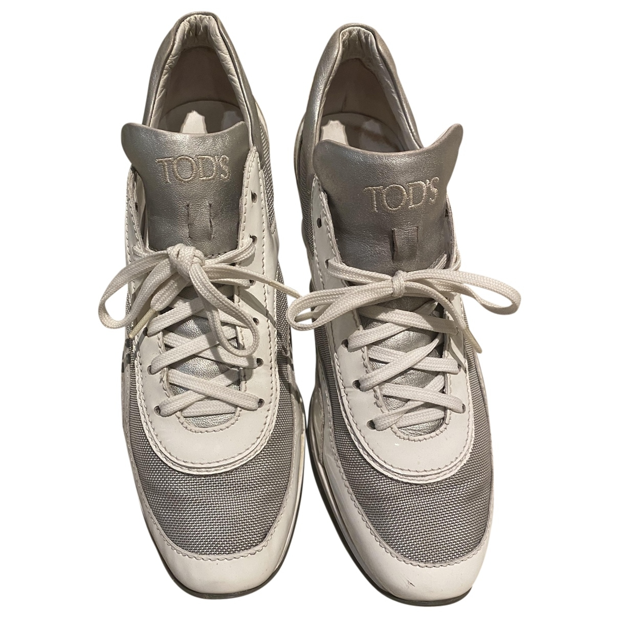 Tod's \N White Leather Trainers for Women 39 EU