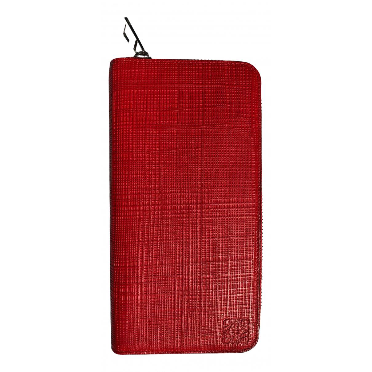 Loewe \N Red Leather wallet for Women \N