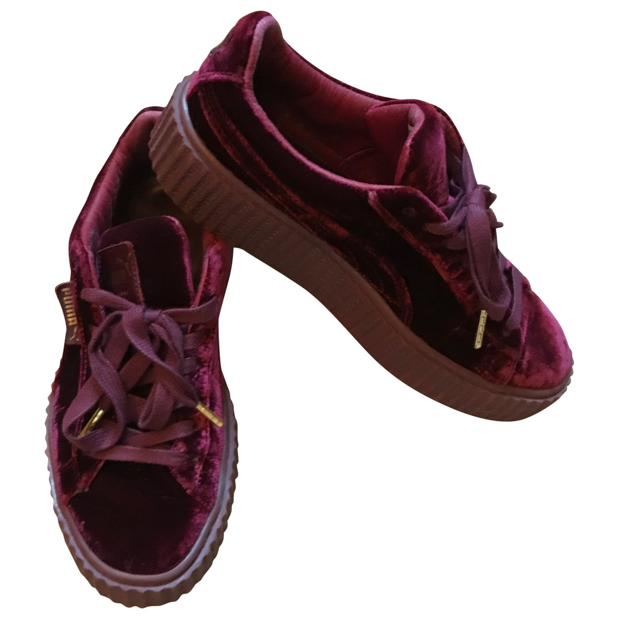Fenty X Puma \N Burgundy Velvet Trainers for Women 38 EU