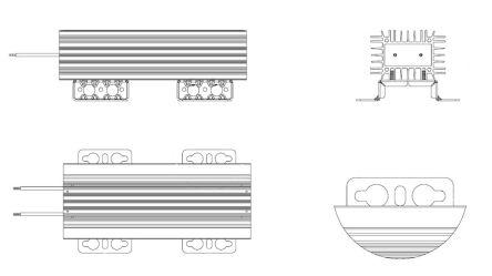 Danotherm CBR-H225 Series Wire Lead Wire Wound Braking Resistor, 33Ω ±10% 400W