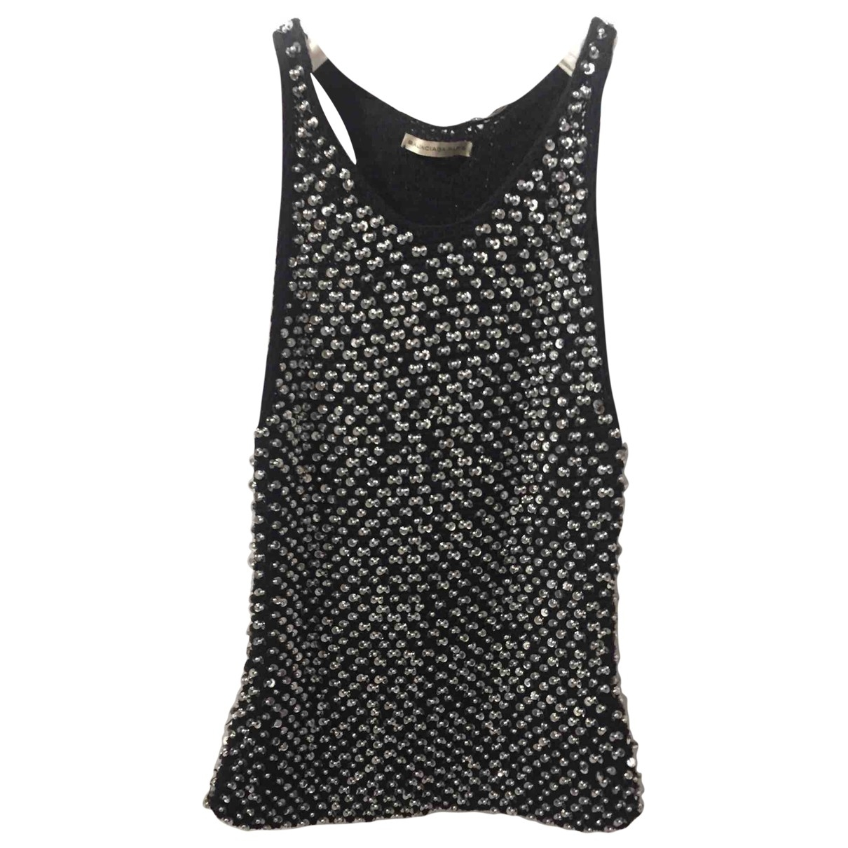 Balenciaga \N Black Cotton  top for Women 38 FR