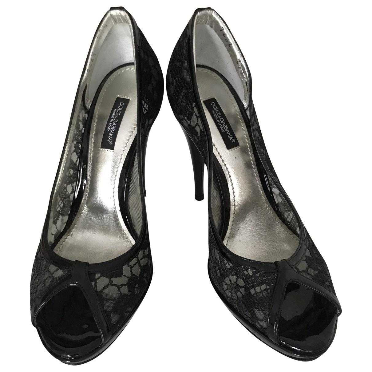 Dolce & Gabbana - Escarpins   pour femme en cuir verni - noir