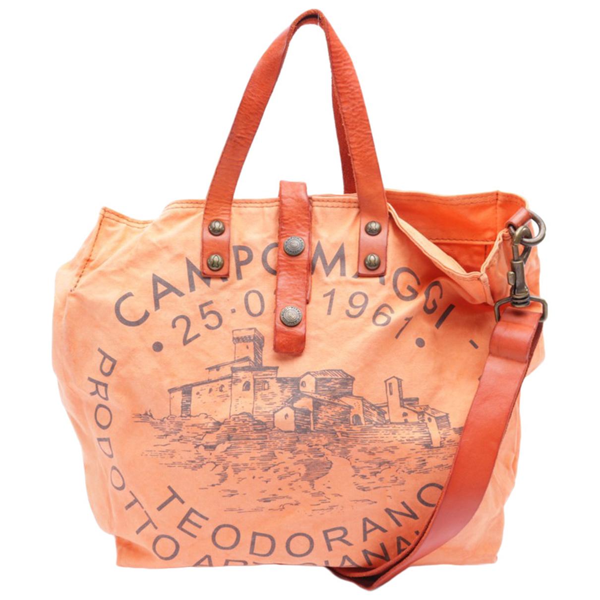 Non Signe / Unsigned \N Handtasche in  Orange Baumwolle