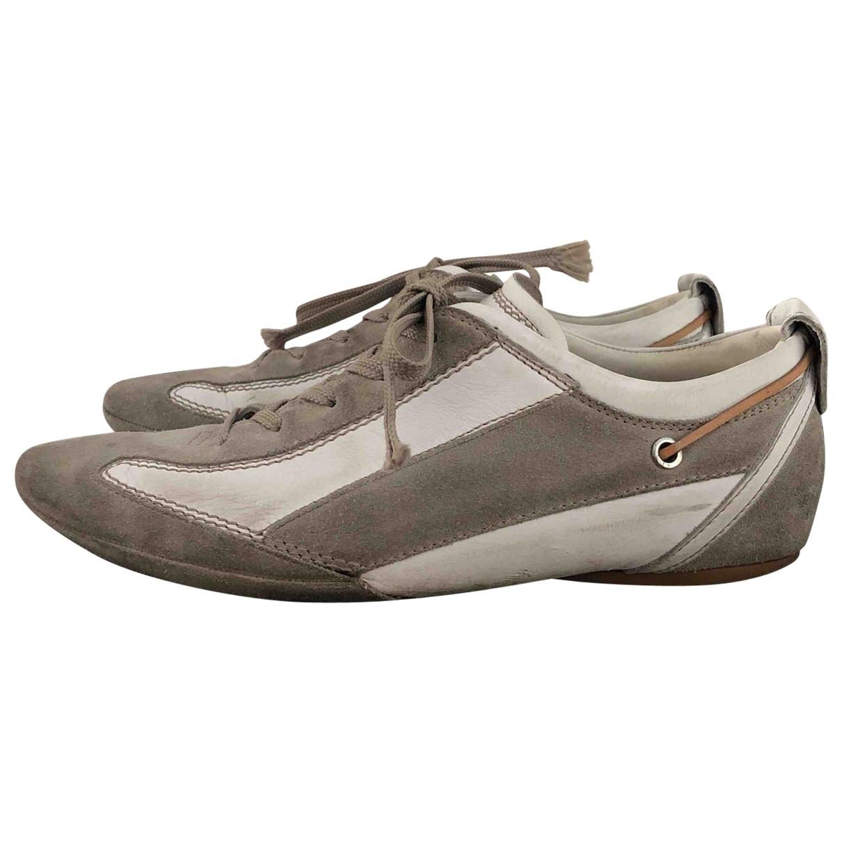 Tods \N Sneakers in  Ecru Veloursleder