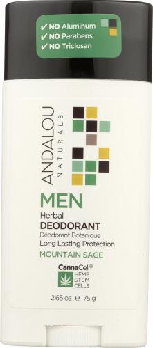 Men Herbal Deodorant 3.25 Oz by Andalou Naturals